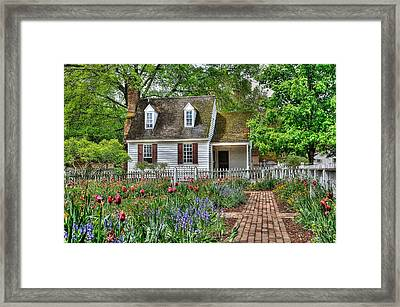 Colonial Williamsburg Flower Garden Framed Print