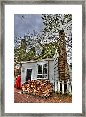 Colonial Williamsburg House 2 Framed Print by Todd Hostetter