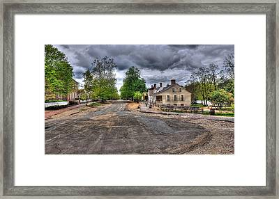 Colonial Williamsburg Street View 1 Framed Print by Todd Hostetter