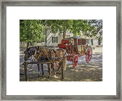 Colonial Williamsburg  V1 Framed Print