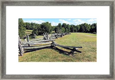 Colonial Zig Zag Fence At Booker T Washingtons Home Framed Print