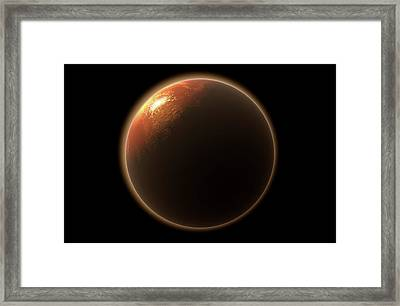 Colonization Of Mars Framed Print