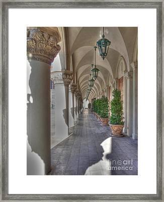 Colonnade At The Venetian Framed Print by David Bearden