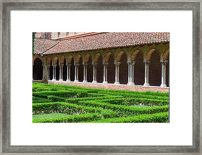Colonnade Insde Eglise Des Jacobins Or Church Of The Jacobins Framed Print