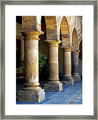 Colonnades Framed Print by Mexicolors Art Photography