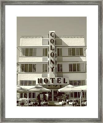 Colony Hotel South Beach Framed Print