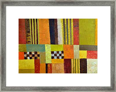 Color And Pattern Abstract Framed Print