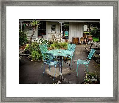 Framed Print featuring the photograph Color At Cafe by Perry Webster