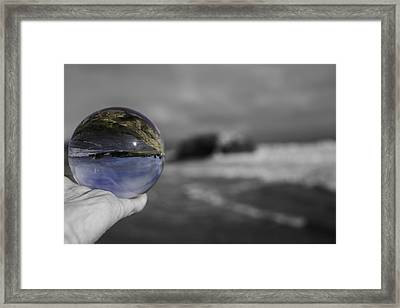 Color Ball Framed Print by Lora Lee Chapman