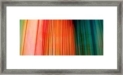 Color Bands Framed Print