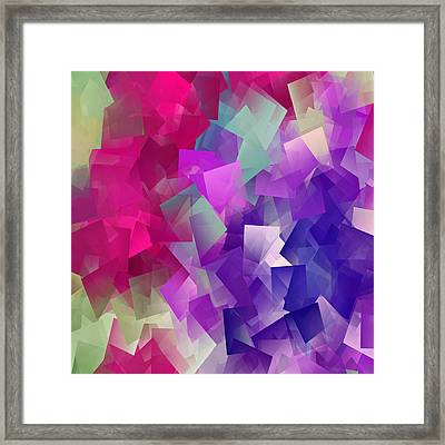 Color Block - Purples Framed Print