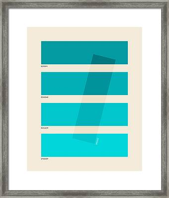 Color Burn #1 Framed Print