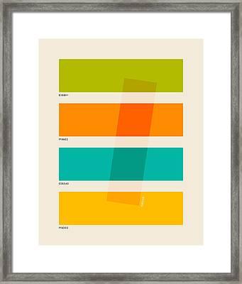 Color Burn 2 Framed Print by Jazzberry Blue