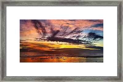Color Burst Malibu Sunset Framed Print