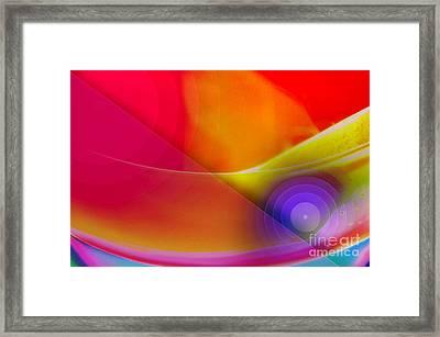 Color Burst Rainbow Abstract Framed Print