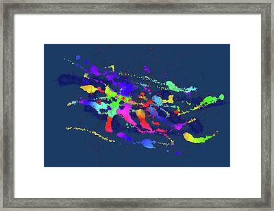 Color Chaos Framed Print by Alexis Baranek