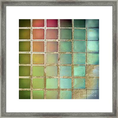 Color Chart Olives And Greens Framed Print by Mindy Sommers