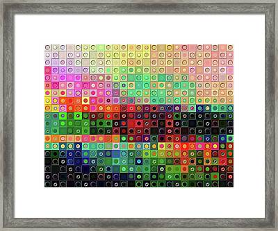 Framed Print featuring the digital art Color Coded by Wendy J St Christopher