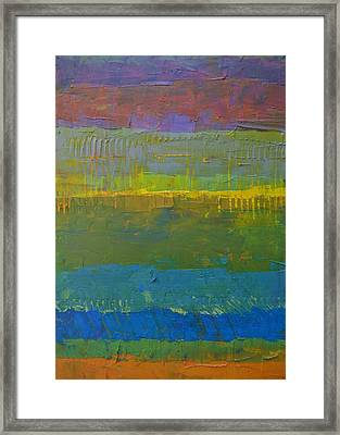 Framed Print featuring the painting Color Collage Five by Michelle Calkins