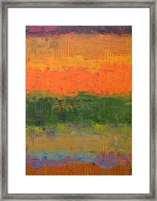 Framed Print featuring the painting Color Collage Four by Michelle Calkins