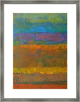 Framed Print featuring the painting Color Collage One by Michelle Calkins