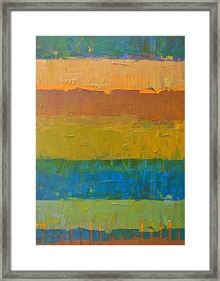 Framed Print featuring the painting Color Collage Three by Michelle Calkins