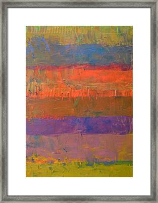 Framed Print featuring the painting Color Collage Two by Michelle Calkins