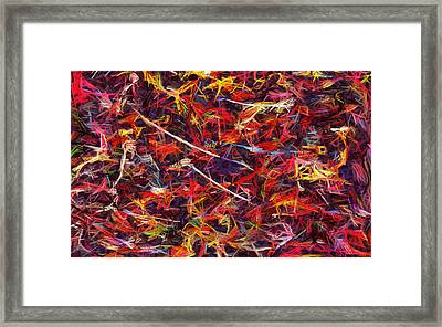 Color Crayons Framed Print by Anton Kalinichev