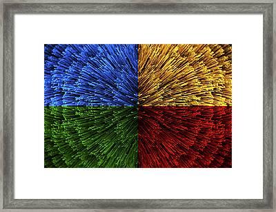 Color Explosion Framed Print