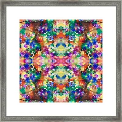 Color Explosion Framed Print by Sumit Mehndiratta