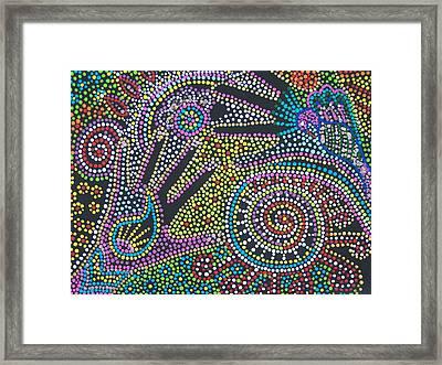 Color Fantasy Framed Print by Vijay Sharon Govender