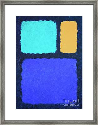 Framed Print featuring the painting Color Fields by Jutta Maria Pusl