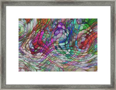 Color Flow Framed Print