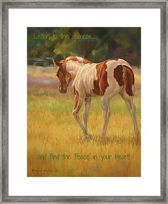 Color Foal And Quote Framed Print