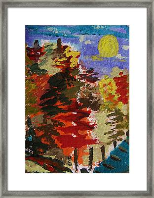 Color Forest Framed Print by Mary Carol Williams