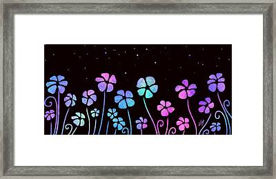Color Game Series Blue Framed Print by Veronica Minozzi