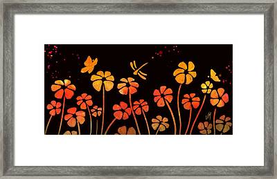 Color Game Series Orange Framed Print by Veronica Minozzi