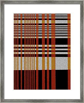 Color Grid Framed Print