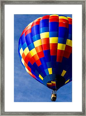 Color High In The Sky Framed Print by Teri Virbickis