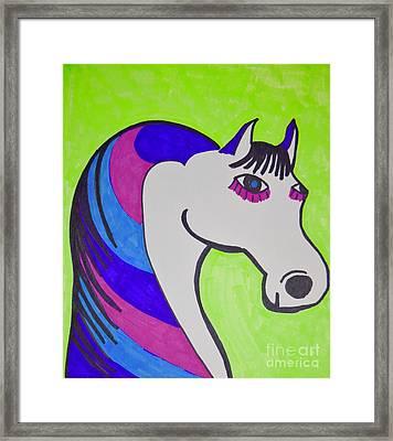 Color Horse Framed Print