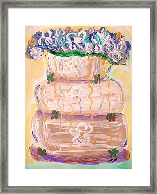Color In A Wedding Cake Framed Print by Mary Carol Williams