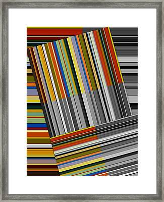 Framed Print featuring the digital art Color In Black And White by Michelle Calkins