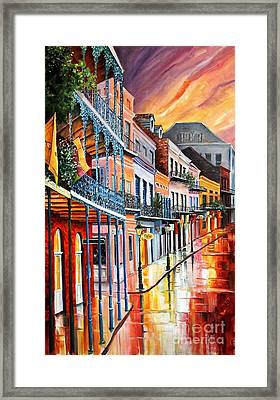 Color In The Quarter Framed Print by Diane Millsap