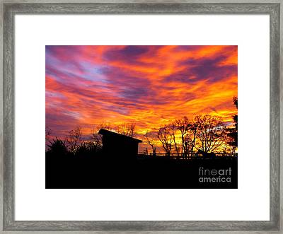Color In The Sky Framed Print