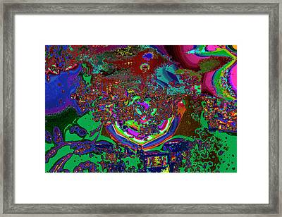 Color Is A Candy For The Senses Framed Print
