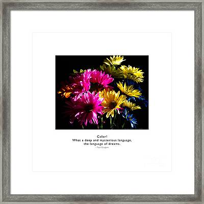 Framed Print featuring the photograph Color Language Of Dreams by Kristen Fox