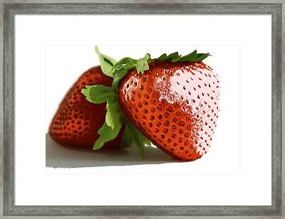 Color Layer Strawberry Framed Print