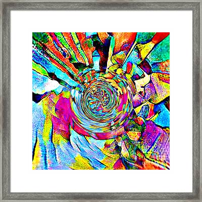 Color Lives Here Framed Print