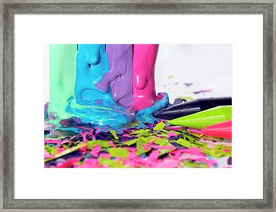 Color Madness Framed Print
