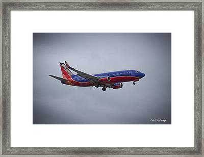 Color Me Beautiful Southwest Airlines N382sw Boeing 737 Airliner Art Framed Print